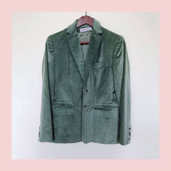 Gorgeous Pistachio Color Pastel Blazer Green Vinta