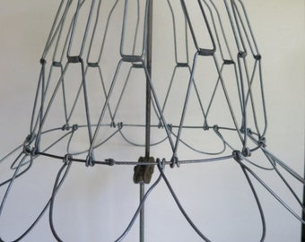 Lampshade frame etsy wire lampshadefolding wire lampshadehandmade wire frame greentooth Images