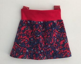 41824d5e570b42 Maat 86 92 vrolijk rokje tricot katoen happy skirt charity goed doel KWF