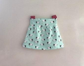 e75ed839853cab Maat 74 80 vrolijk rokje tricot happy skirt charity goed doel KWF