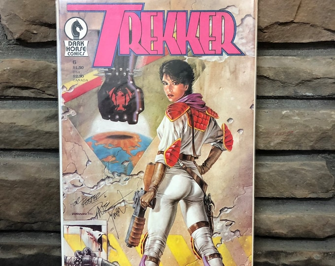 "MAR. 1988 Signed ""Trekker"" Comic and 1993 MUG"