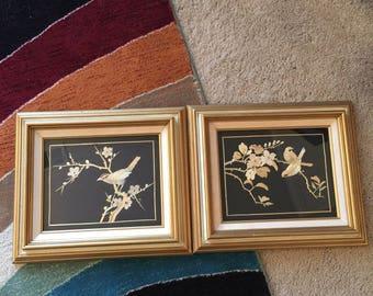 Bamboo Bird Natural Art - Set of 2