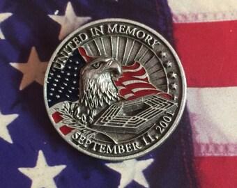 "2001 ""United in Memory"" speech Pin"