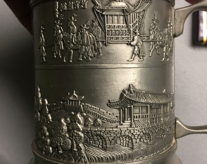 Fortress of Filial Piety Pewter Mug