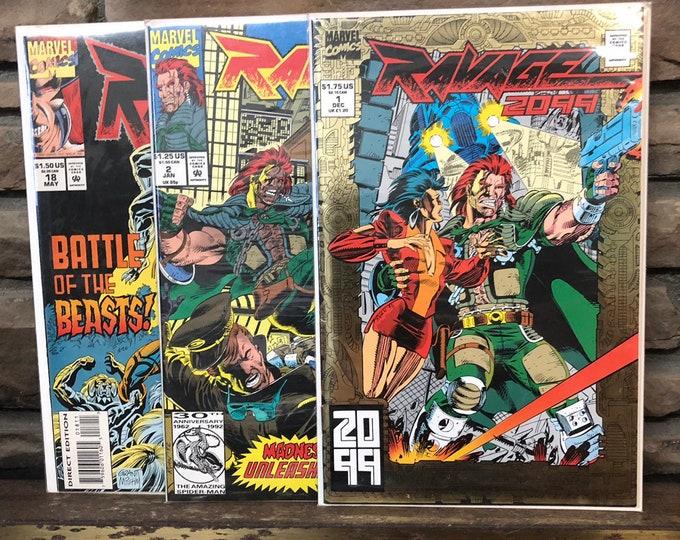 """1992 1993 1994 """"Ravage 2099"""" #1 #2 #18"""