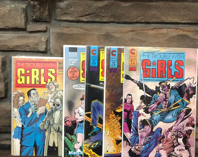 1987 1988 The Trouble with Girls *Mature* comics