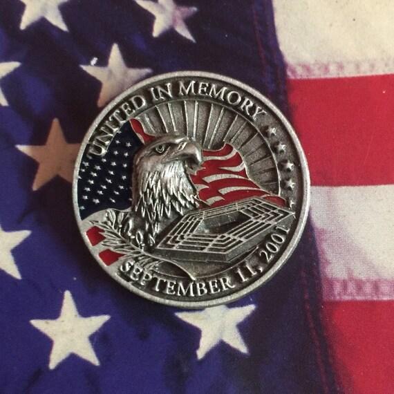 2001 9/11 United in Memory Pin