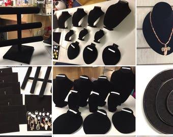 Jewelry Displays - Black Velvet