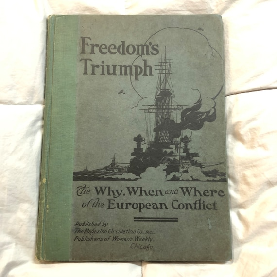 1919 Freedom's Triumph ...European Conflict Book