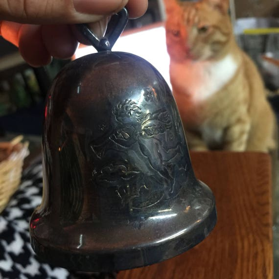 1970s Christmas Silver Bell