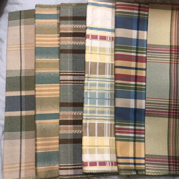 6-pc. Spring Plaid fabric swatches