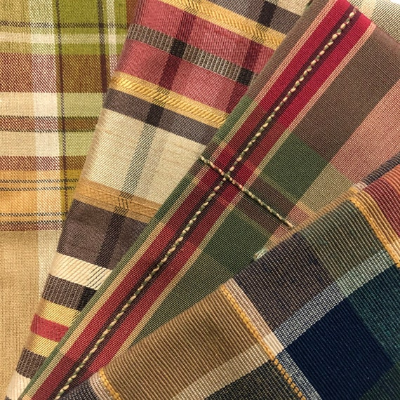 4-pc. Autumn Plaids fabric swatches