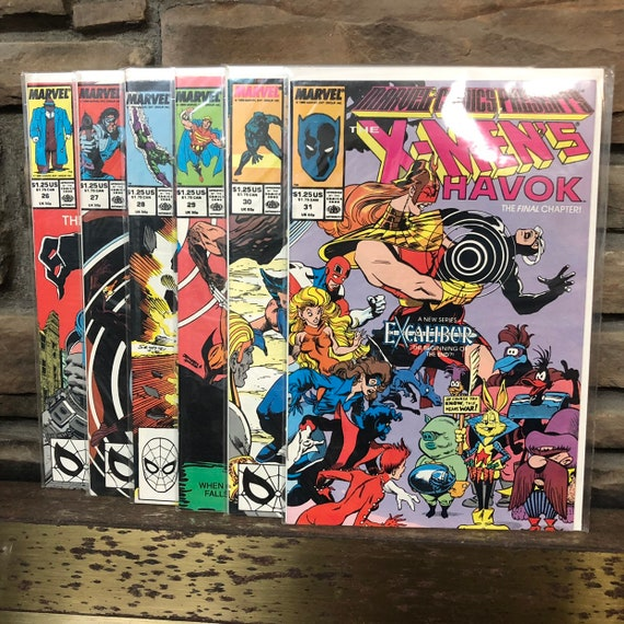 "1989 Marvel presents ""the X-Men's Havok"" #26 - #31"