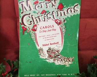 1955 Merry Christmas Carols - to sing and play