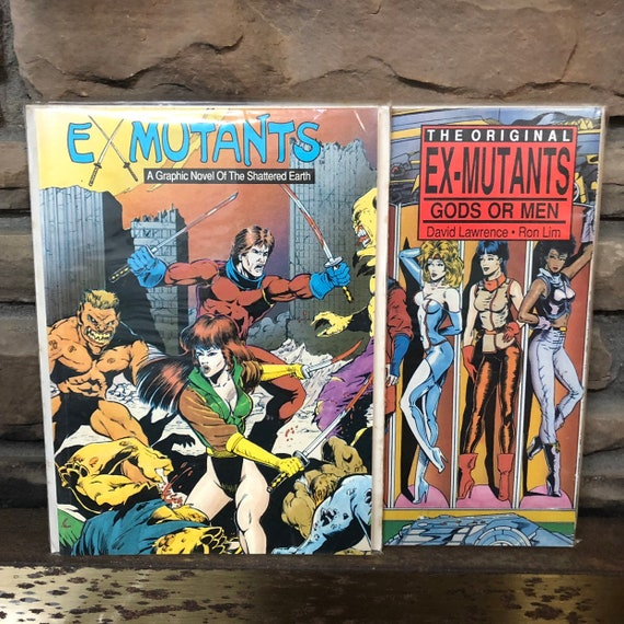 1988 Ex-Mutants, a graphic novel (set of 2)