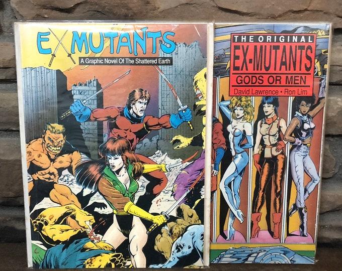 1988 Ex-Mutants, a graphic novel (set of 2)