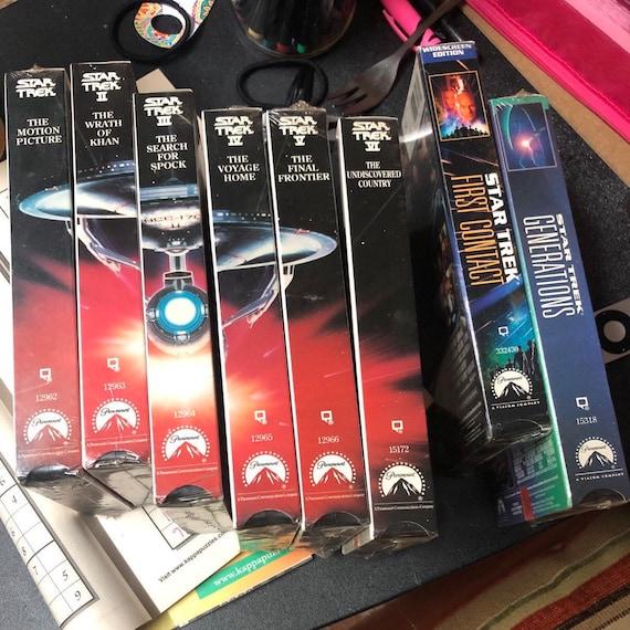 1990's Star Trek VHS Collection - set of 8