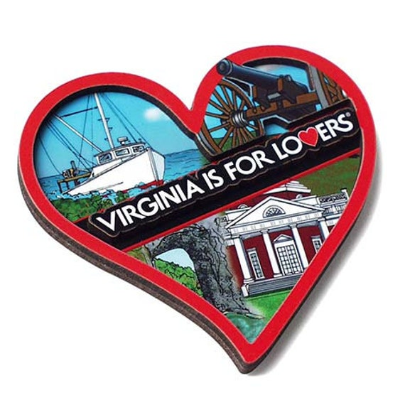3D Heart Magnet - Virginia is for Lovers ®