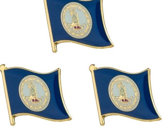 State of Virginia Flag Pins