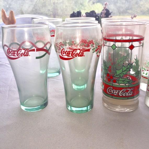 1970s Coca-Cola Holiday Glassware - Single one