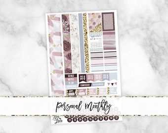 August Personal Monthly Kit - Sew Much Crafting Personal Size Planner Stickers