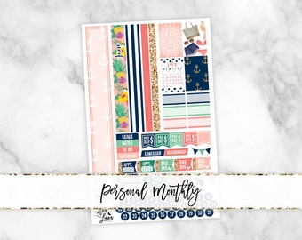 June Personal Monthly Kit - Sew Much Crafting Personal Size Planner Stickers
