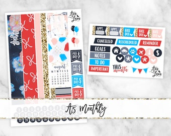 July A5 SMC Monthly Kit - Planner Stickers