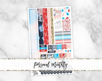 July Personal Monthly Kit - Sew Much Crafting Personal Size Planner Stickers