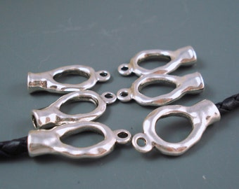 THREE Sets Infinity Loop 4MM End Cap Clasp Magnetic Double Loop End Caps KNOT4MM