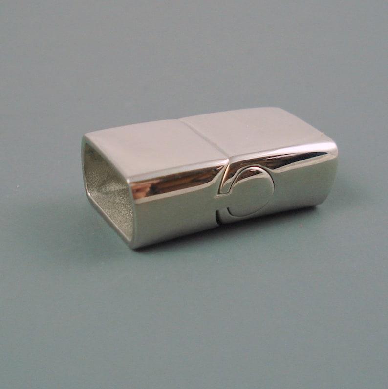 Stainless Steel Magnetic Flat Clasp  Large Interlocking image 2
