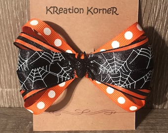 Spider web hair bow