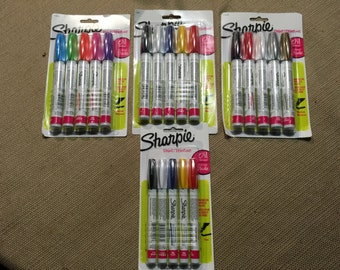 Sharpies - Paint Pens - Oil Base - 4 Packs