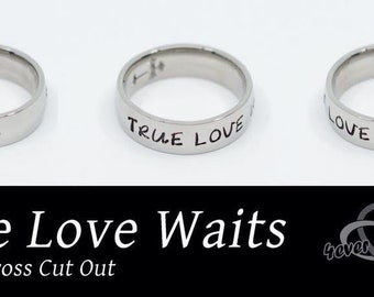Cross Ring, Christian Jewelry, Faith Ring, Promise Ring, Teen Gift, Cross Ring, Christian Ring, Girls Ring, True Love Waits, Purity Ring
