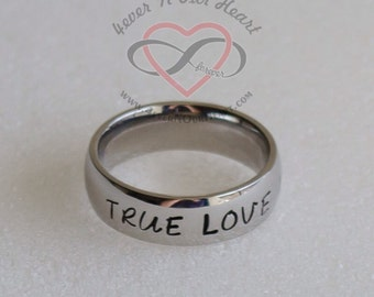 Abstinence Ring, Purity Ring, True Love Waits Ring, Girls Promise Ring, Pure Ring, True Love Ring, Christian Ring, Teen Gift, Chastity Ring