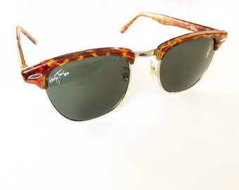 164c24ea7d Horned rim half framed sunglasses