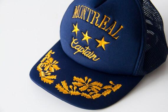 Montreal Hat, Captain of Montreal vintage hat, Tru