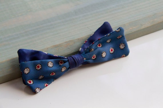 Sherman Bow tie, 50's bow tie , Red white and blue