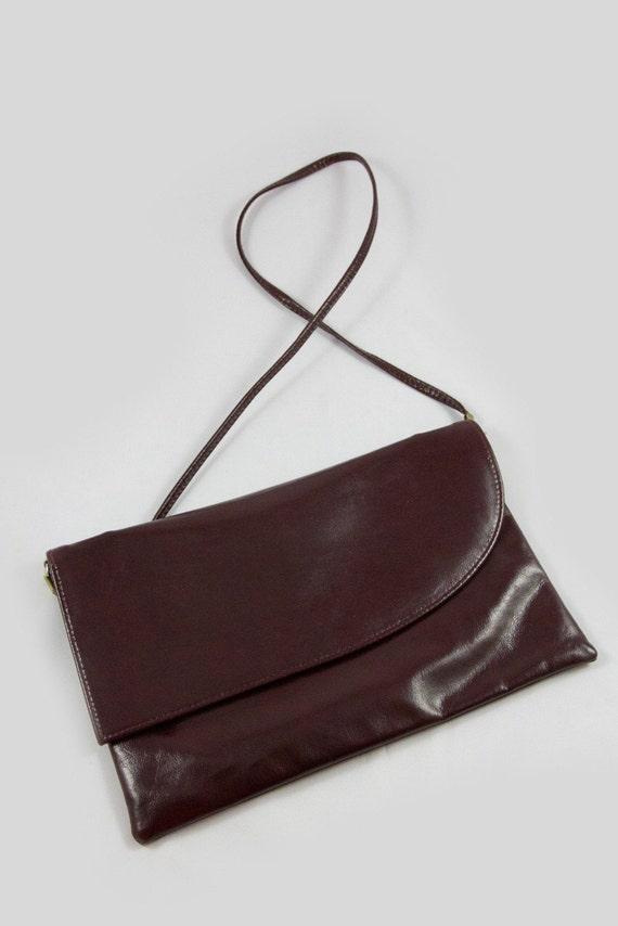 Vintage Cabrelli Shoulder Bag, Wine Coloured Shoul