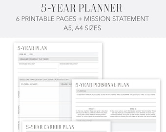 yearly planner etsy
