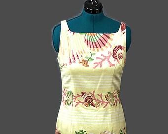 Vintage Linen Dress by Maggie London. 1990s Shift Dress Size XLarge