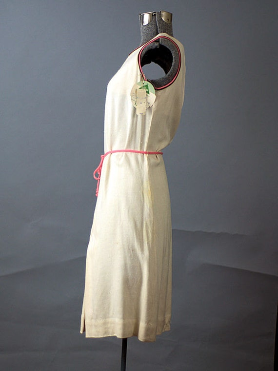Vintage Dress Dress Medium White to Tennis Vintage 1960 Large Size Cream 4qwxnYr7F4