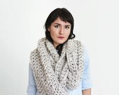 Chunky Long Infinity Scarf Cowl - Women's Fall Fashion Accessory -Oversized Circle Scarf - Huge Infinity Cowl in Marble | The Hyperion Scarf