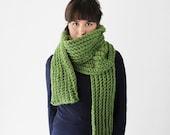 Long Crochet Winter Scarf -   Huge Crochet Scarf - Chunky Crochet Scarf - Winter Accessory in Avocado | The Io Scarf |