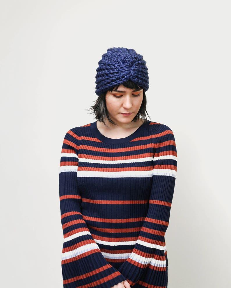 8400767a89861d Winter Crochet Turban Hat Head Wrap Winter Accessory Knit | Etsy