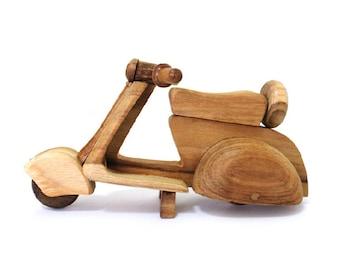 Wooden Toy Vespa in Handmade