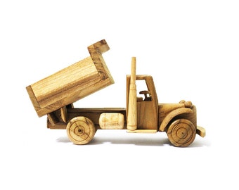 Wooden Toy Truck Car 02 in Handmade