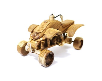 Wooden Toy ATV Car (L) in Handmade