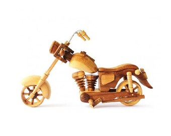 Wooden Toy Motorcycle 01 in Handmade