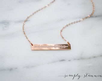 7a7c59c09 Sound wave necklace, Custom recording necklace, baby name necklace, new mom  gift, Heartbeat Necklace, Mothers necklace, Wedding gift,