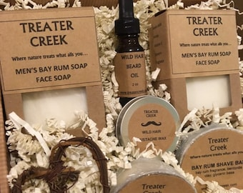Men's Valentine's Day Mustache and Beard Grooming Gift Basket